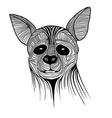 Hyena animal sketch tattoo symbol vector image