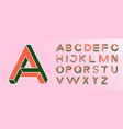 impossible shape font memphis style letters vector image