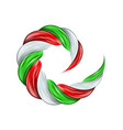 italy flag spiral color flow detailed wave paint vector image