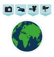 journalism around the world vector image vector image