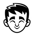 kid cute face cartoon icon vector image vector image