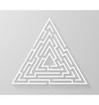 labyrinth maze symbol shape vector image vector image