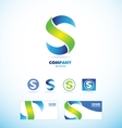 Letter S logo icon set vector image vector image