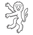 lion for heraldry 02 vector image vector image