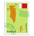 mail to-from Bahrain vector image vector image