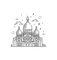 minimalistic line-art landmark icon of the sacre vector image vector image