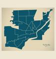 modern city map - toledo ohio city of the usa vector image vector image
