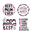 mother day saying quote set vector image