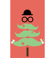 Moustaches Christmas Tree02 vector image vector image