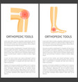 orthopedic tools posters text vector image