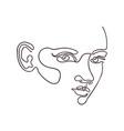 outline portpait woman vector image vector image
