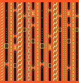 pattern with belts and chain vector image vector image