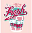 Peppermint milkshake cup vector image