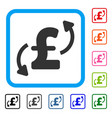 pound transfers framed icon vector image vector image