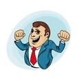 Power muscular businessman vector image