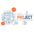 project icons collection for education vector image