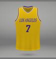 realistic sport shirt vector image vector image