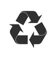 recycling recycle icon shape sign vector image vector image