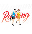 running men and women vector image vector image