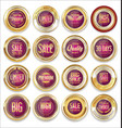 sale retro vintage golden badges and labels 03 vector image vector image