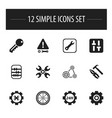set of 12 editable toolkit icons includes symbols vector image vector image