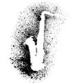 Silhouette of saxophone with grunge black splashes vector image