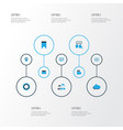 social colorful icons set collection of cloud vector image vector image