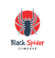 spider and circle animal logo design vector image vector image