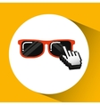 traveling concept technology sunglasses design vector image vector image