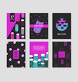 trendy abstract posters set with cylinder shapes vector image