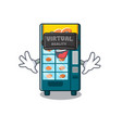 virtual reality bakery vending machine in a mascot vector image vector image