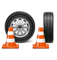 Wheel with Taper vector image vector image