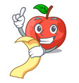 with menu cartoon fresh sweet nectarines in the vector image
