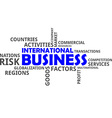 word cloud international business vector image