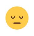 yellow cartoon face sad upset emoji people emotion vector image vector image