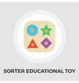 Sorter educational toy flat icon vector image