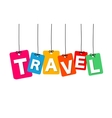 colorful hanging cardboard Tags - travel vector image