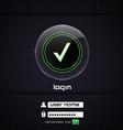 login page 2 vector image