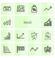 14 sales icons vector image vector image