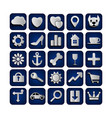 25 web icons set vector image vector image
