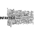 A case of infantigo spread the word text word vector image