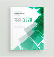 abstract green business book cover page or vector image