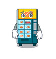 afraid bakery vending machine in a mascot vector image vector image