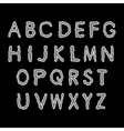 Alphabet gray letters on a black background vector image vector image