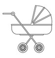 baby stroller icon outline style vector image