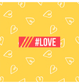 Background poster with hearts and hashtag love vector image vector image