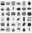 bakery cooking icons set simple style vector image vector image