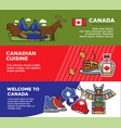canada tourism travel attraction landmarks and vector image