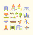 child playground equipment flat vector image vector image