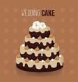 chocolate wedding cake design vector image vector image
